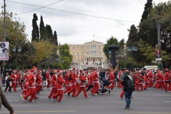 Myathenian Athens Santa run