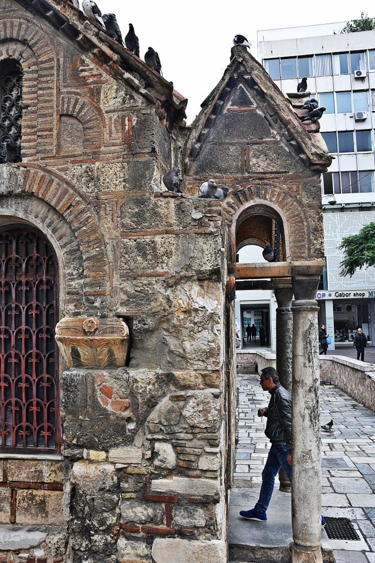 Kapnikarea church Ermou Street by OlgaBo