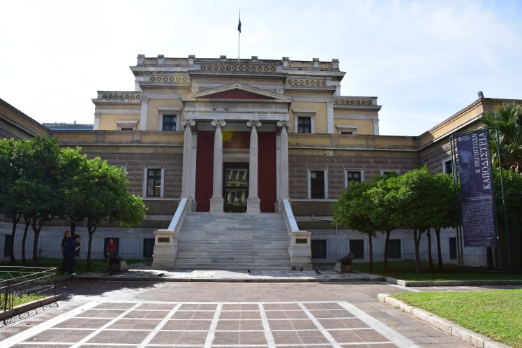 "Myathenian Gallery: The Old Parliament Building  - Statue of Theodoros Kolokotronis ""Παλαια Βουλή -  Θεόδωρος Κολοκοτρώνης""photo by OlgaBo"